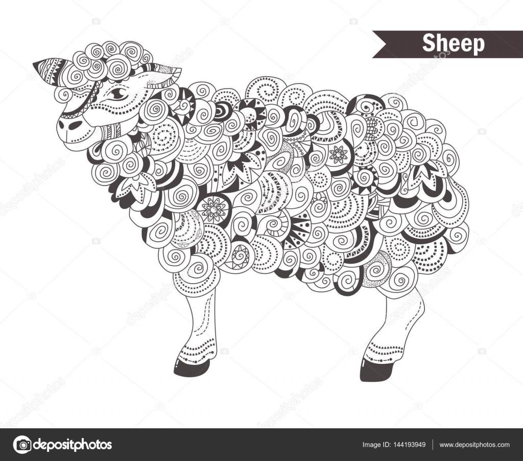 Libro de colorear ovejas — Vector de stock © AnnaViolet #144193949