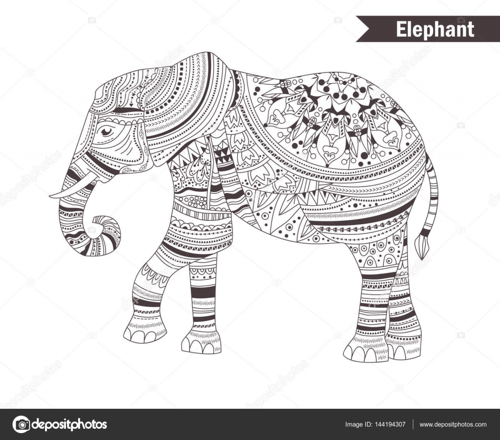Elephant coloring book — Stock Vector © AnnaViolet #144194307