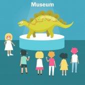 Fotografia Dinosauro nel Museo Paleontologico