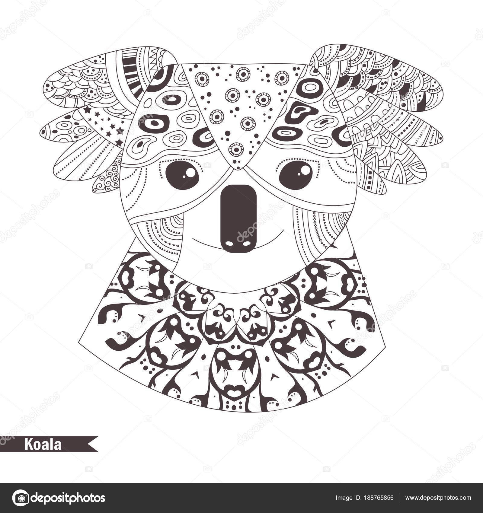 Koala. Libro para colorear — Vector de stock © AnnaViolet #188765856