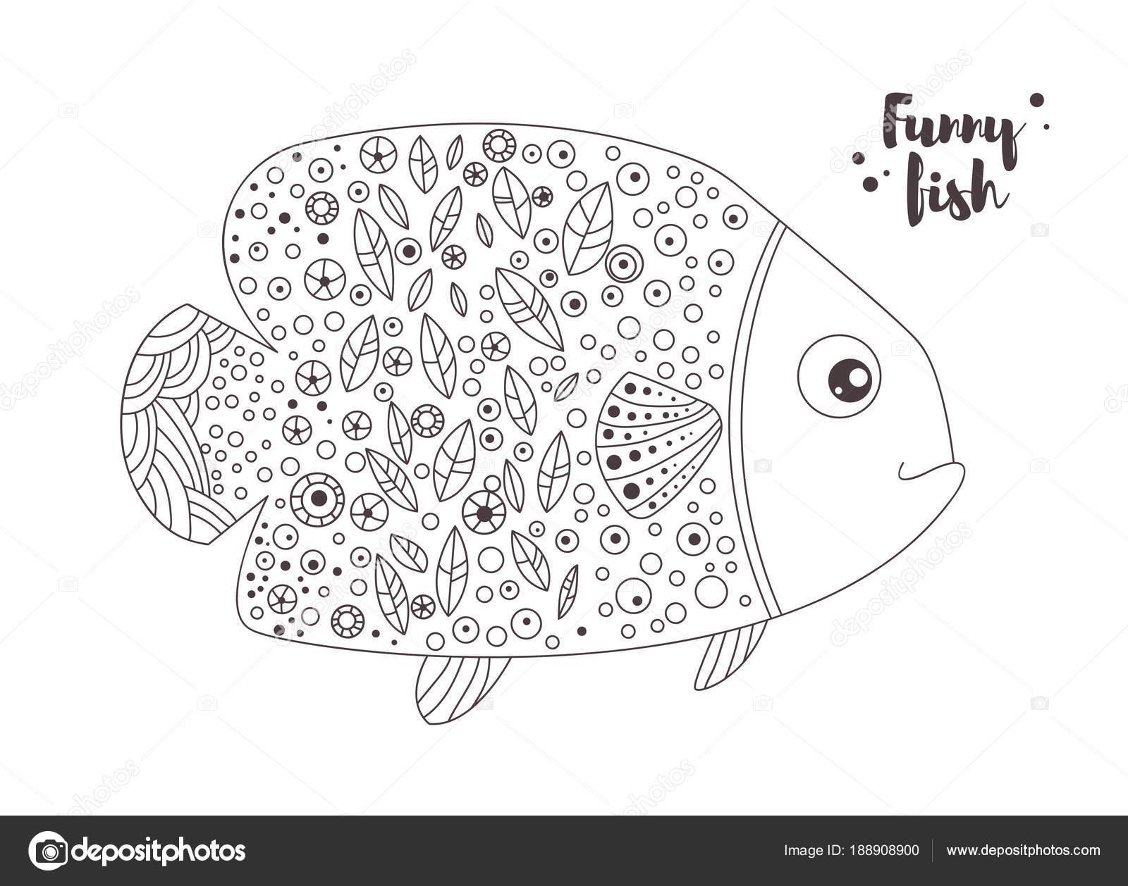 Illustrazione Pesci Divertenti Da Stampare Pesci Divertenti