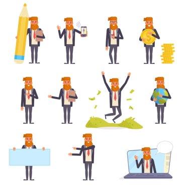 Businessman Vector. Cartoon. Isolated