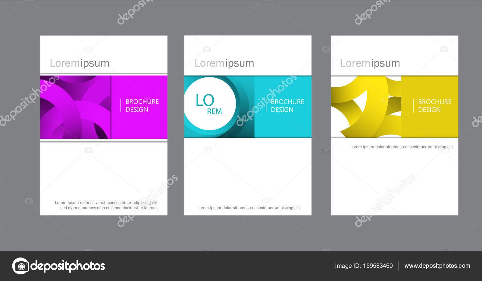Satz von Imagebroschüre, Dokument-Deckblatt, Präsentation, Broschüre ...