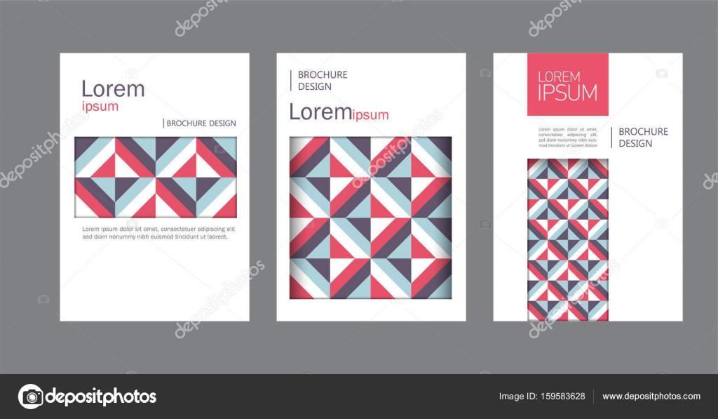 Reihe Von Bunten Unternehmensbroschüre Buch Katalog Deckblatt