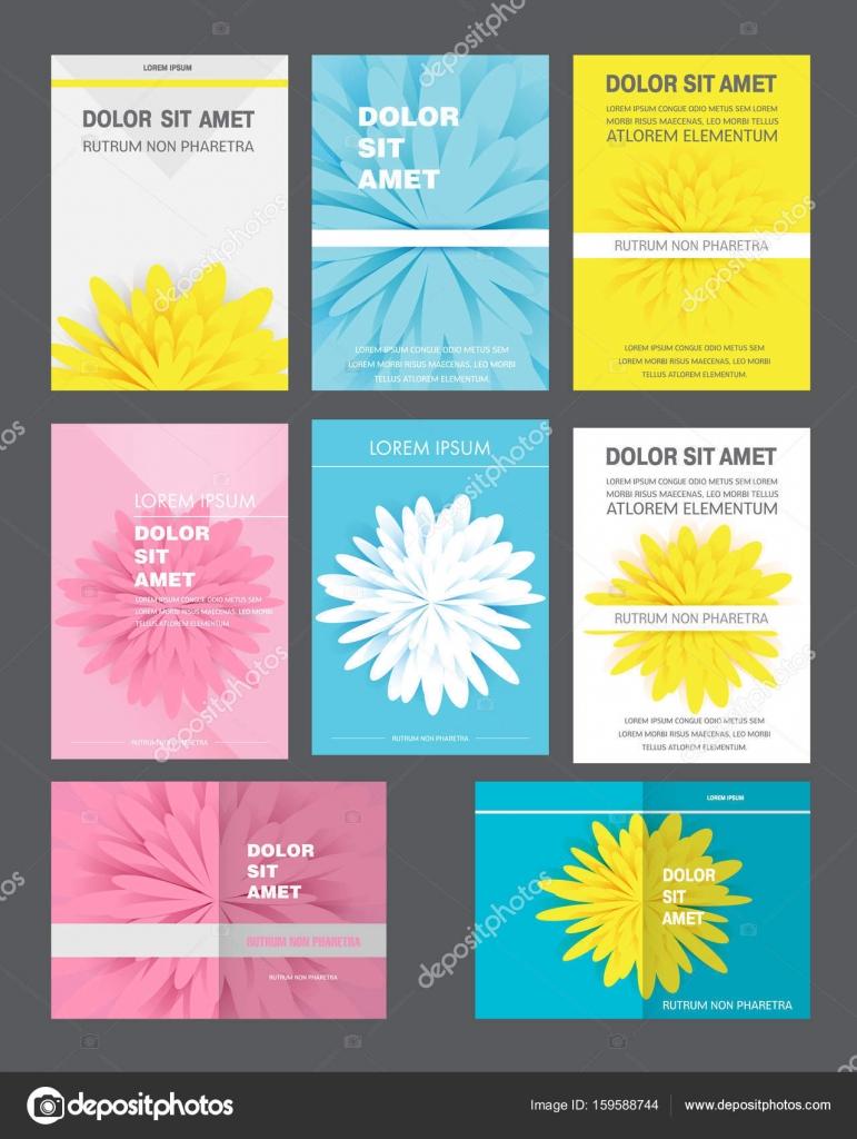 Conjunto de folleto corporativo, página de cubierta del documento ...