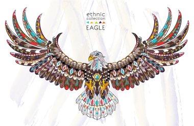 Patterned flying eagle