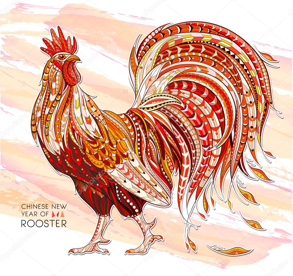 Patterned rooster symbol of chinese new year stock vector patterned rooster symbol of chinese new year stock vector biocorpaavc