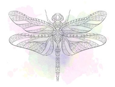 Patterned outline dragonfly