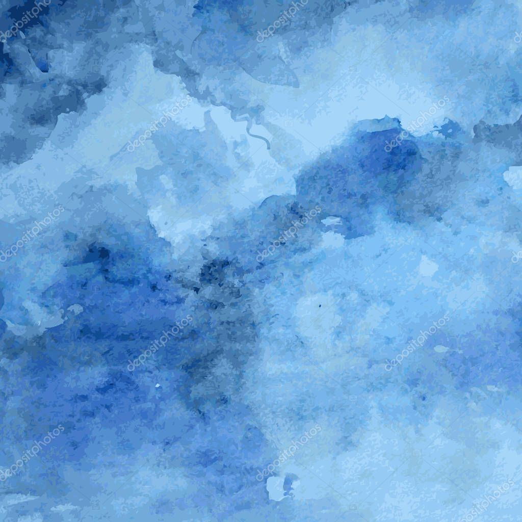 Designed grunge paper texture, watercolor blue artistic abstract vector background, hand drawn style for design book page, menu, wallpaper, beauty salon, natural organic products, template cosmetic
