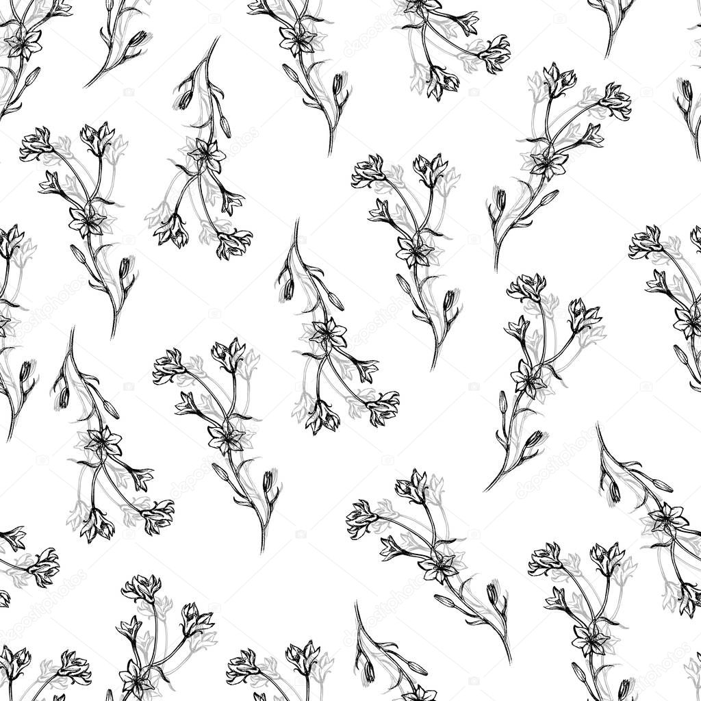 wild flowers for design label cosmetic