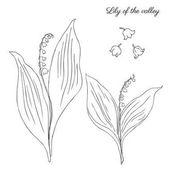 Lily of the valley elements set