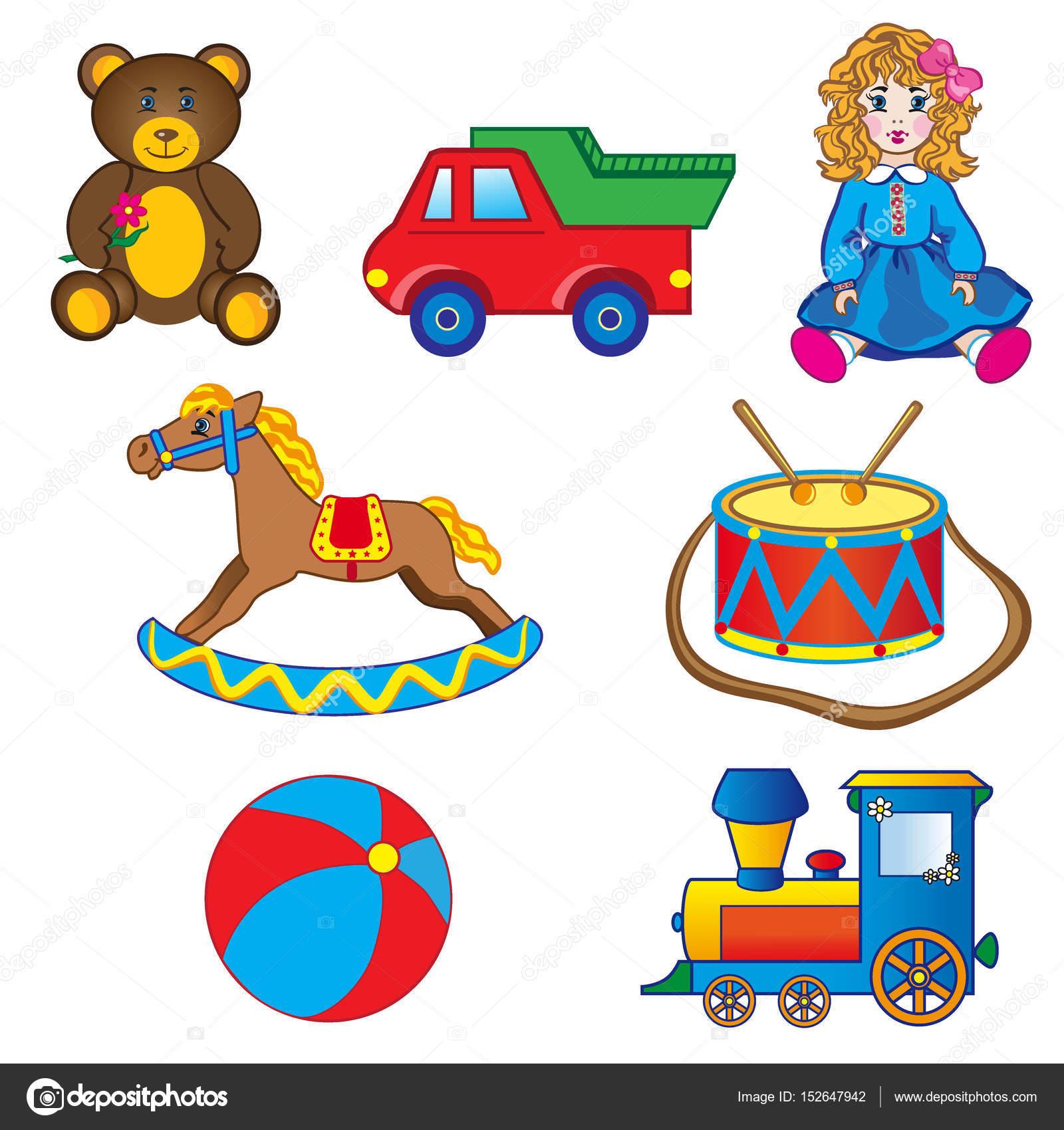baby speelgoed tekeningen auto paard pop bal