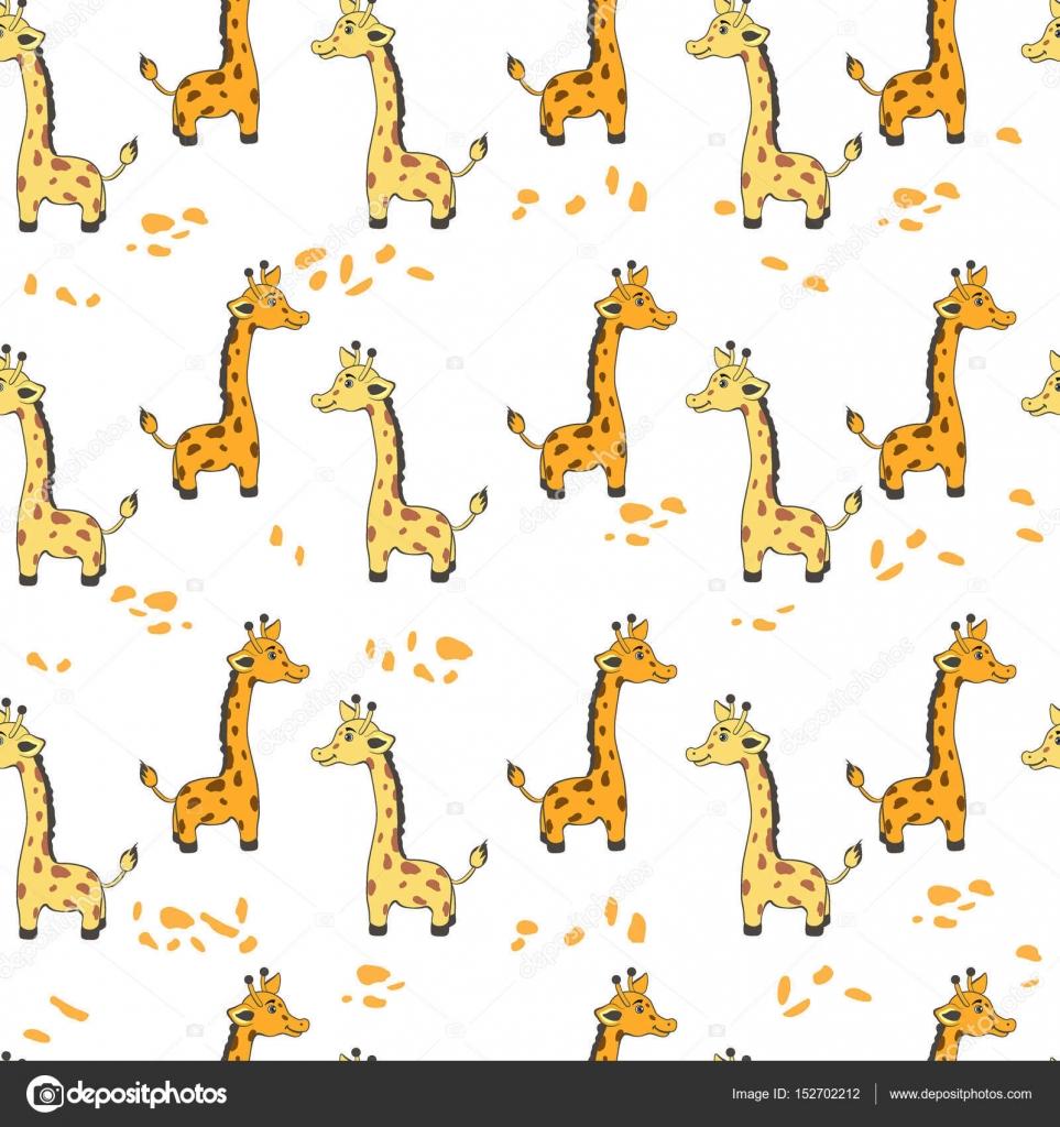 Cute giraffe print wallpaper