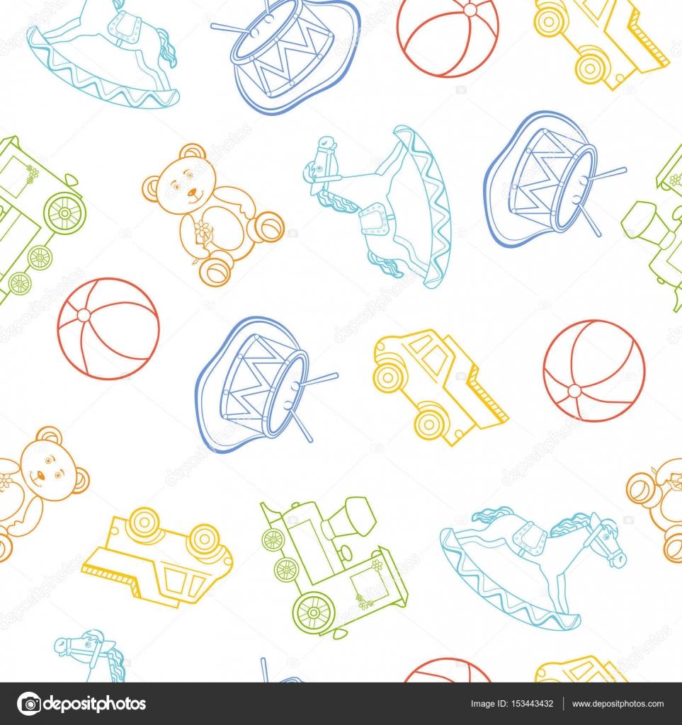 Fondo: Fondo de juguetes de bebé | Bebés dibujos de juguete, coche ...