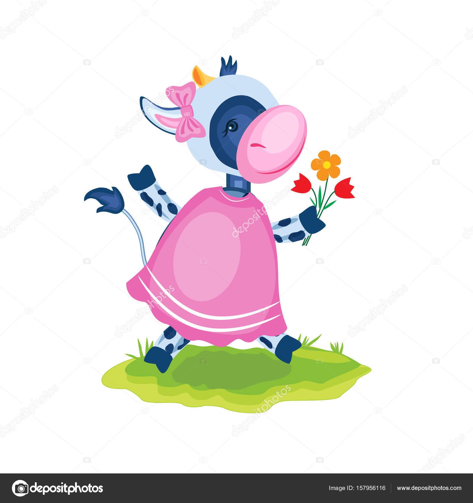 Dibujos animados becerro vector niños del granjero de animales ...