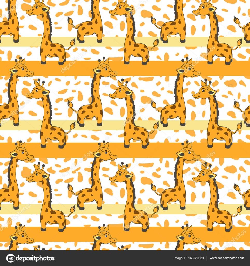 Top Wallpaper Colorful Giraffe - depositphotos_169520828-stock-illustration-cute-cartoon-giraffe-on-orange  Best Photo Reference_74784 .jpg