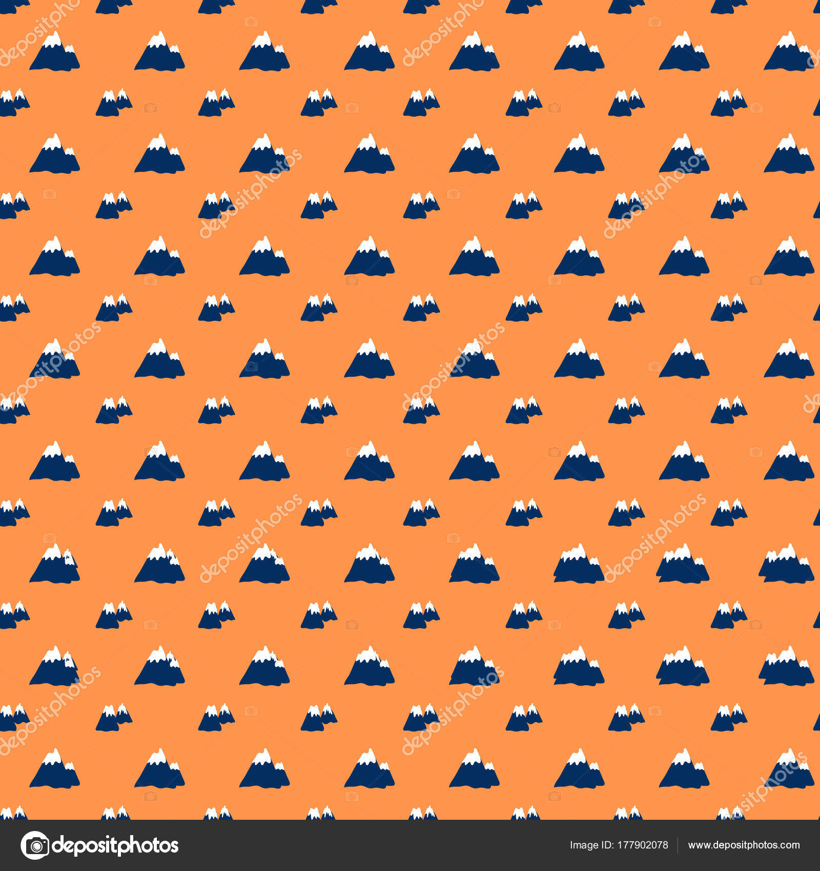 Modèle Sans Couture Illustration Vectorielle De Volcan Bande