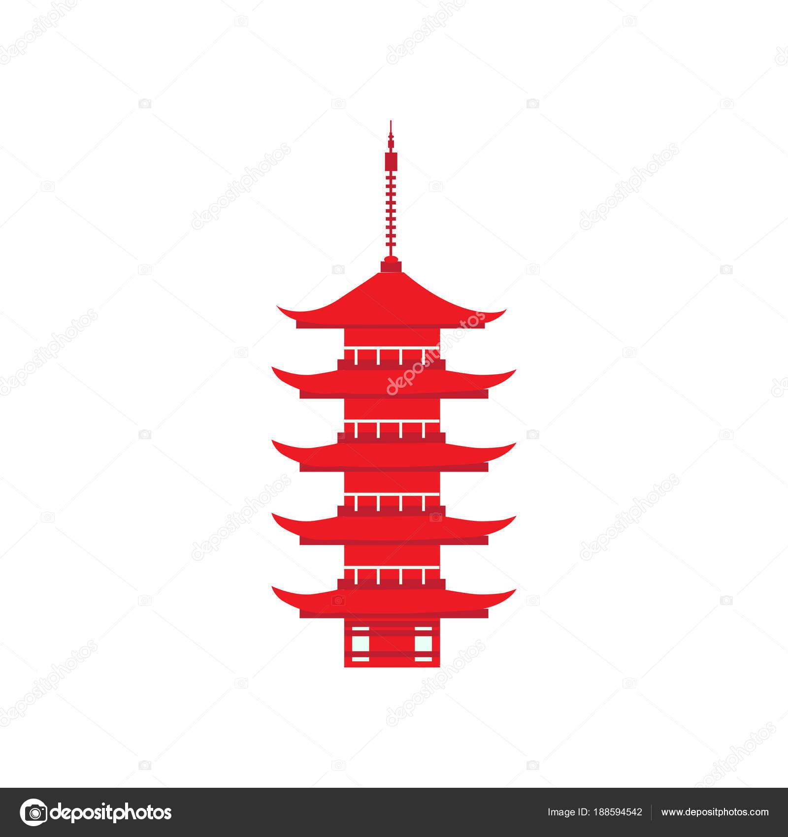 画期的な厳島神社を日本、日本五層塔広島のシンボル、ベクトル デザイン