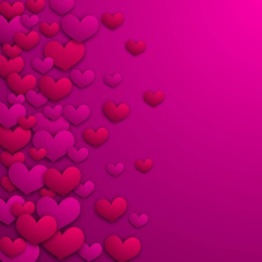 Valentines day card. Vector background with hearts