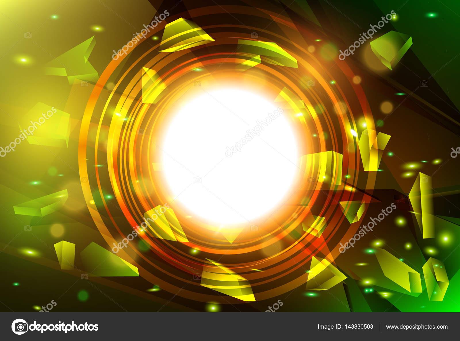 Explosión abstracta con vidrios rotos. Bandera de vector con marco ...