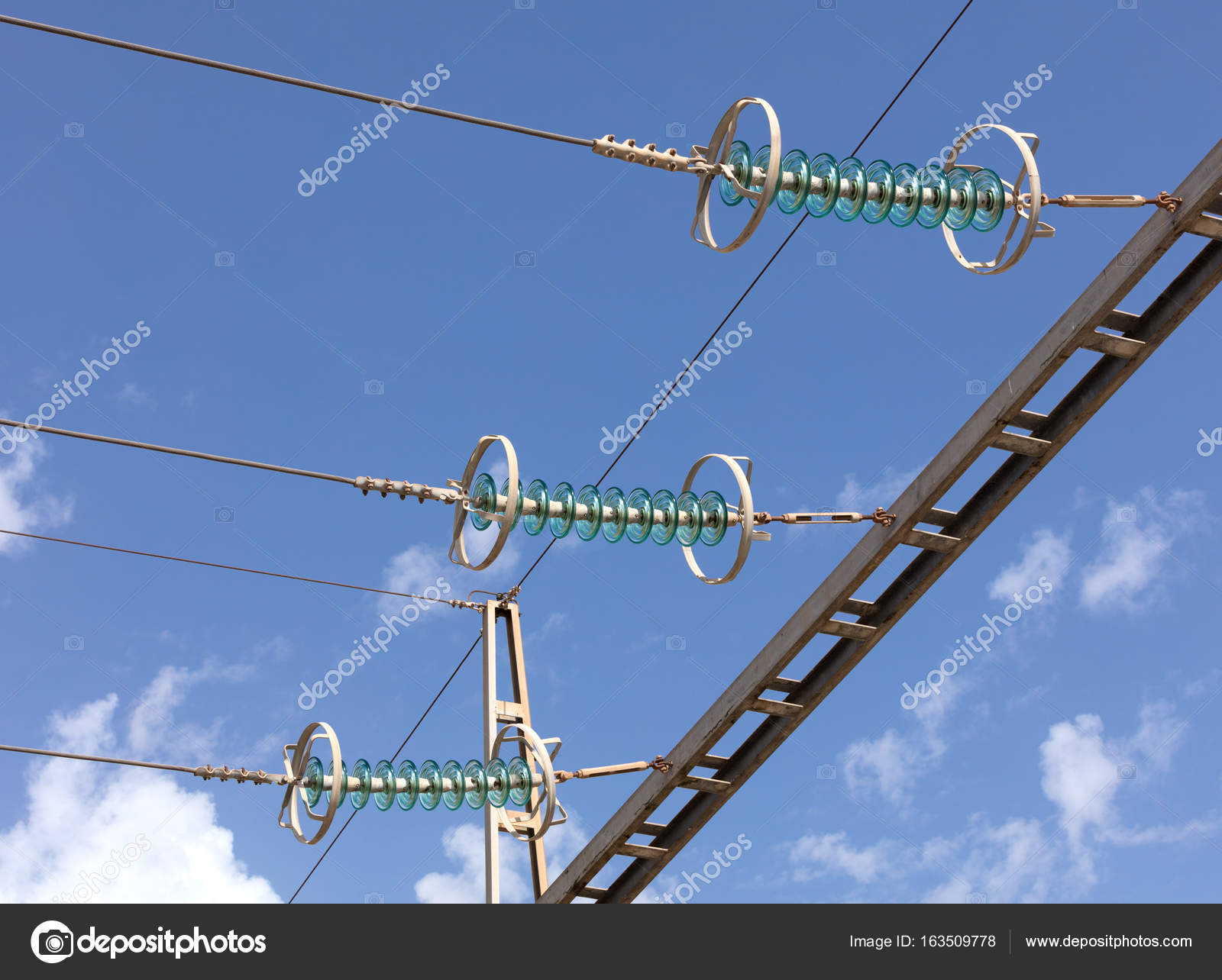 high voltage wires in power installation — Stock Photo © pepebaeza ...