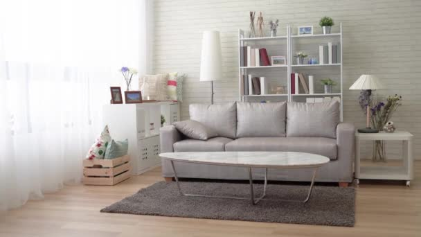 Delicieux Many Types Furniture Modern Living Room Couches Flowers Vase Pillowu2013 Stock  Footage