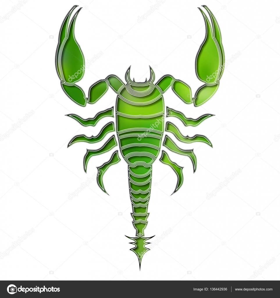 Brillante escorpión, zodiaco Signo Escorpio — Archivo Imágenes ...