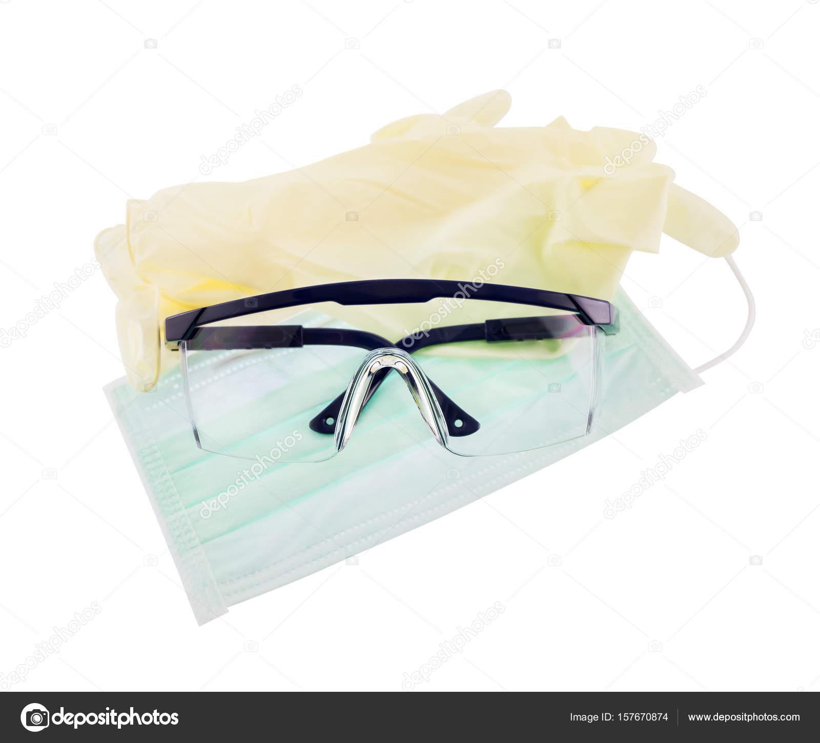 f8c2222e31d14 Luva de máscara óculos de equipamentos de proteção individual — Fotografia  de Stock
