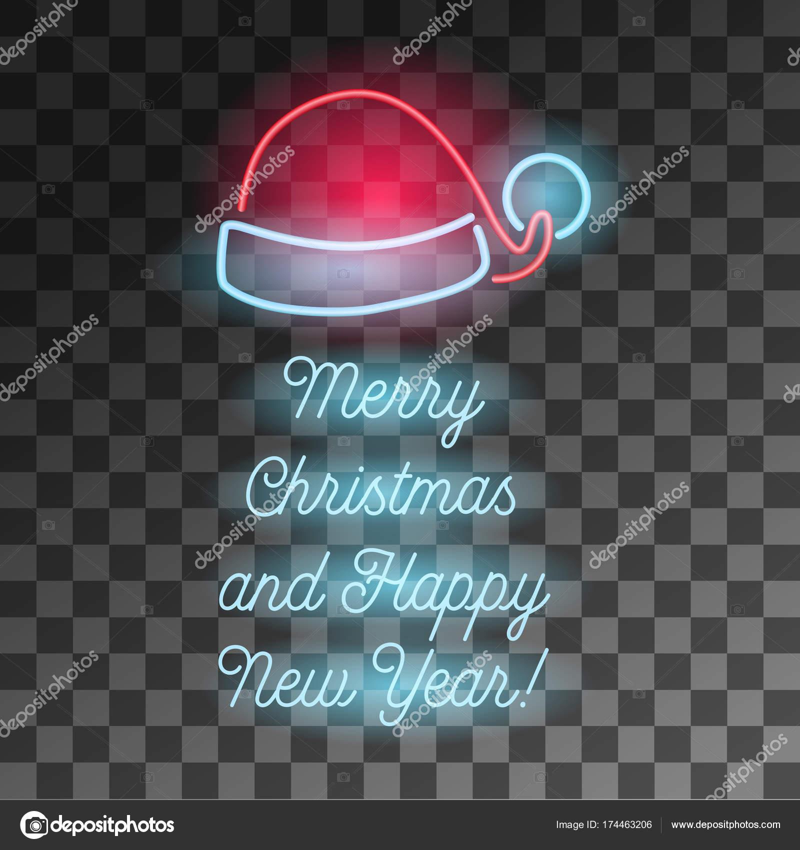 depositphotos 174463206 stock illustration neon merry christmas and happy