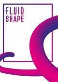 Kapalné tekutiny tvar design obalu. Moderní abstraktní obal