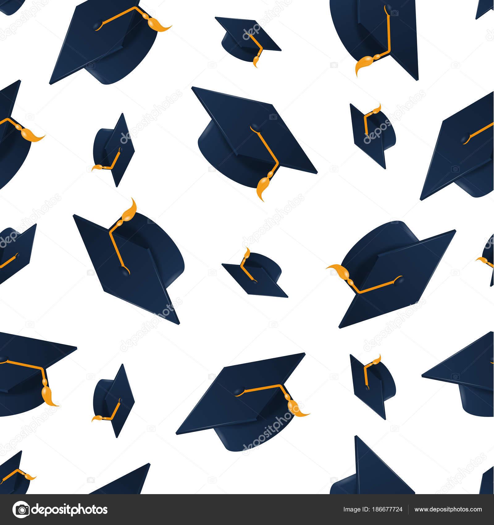 graduación tapa de patrones sin fisuras — Vector de stock © Woters ...