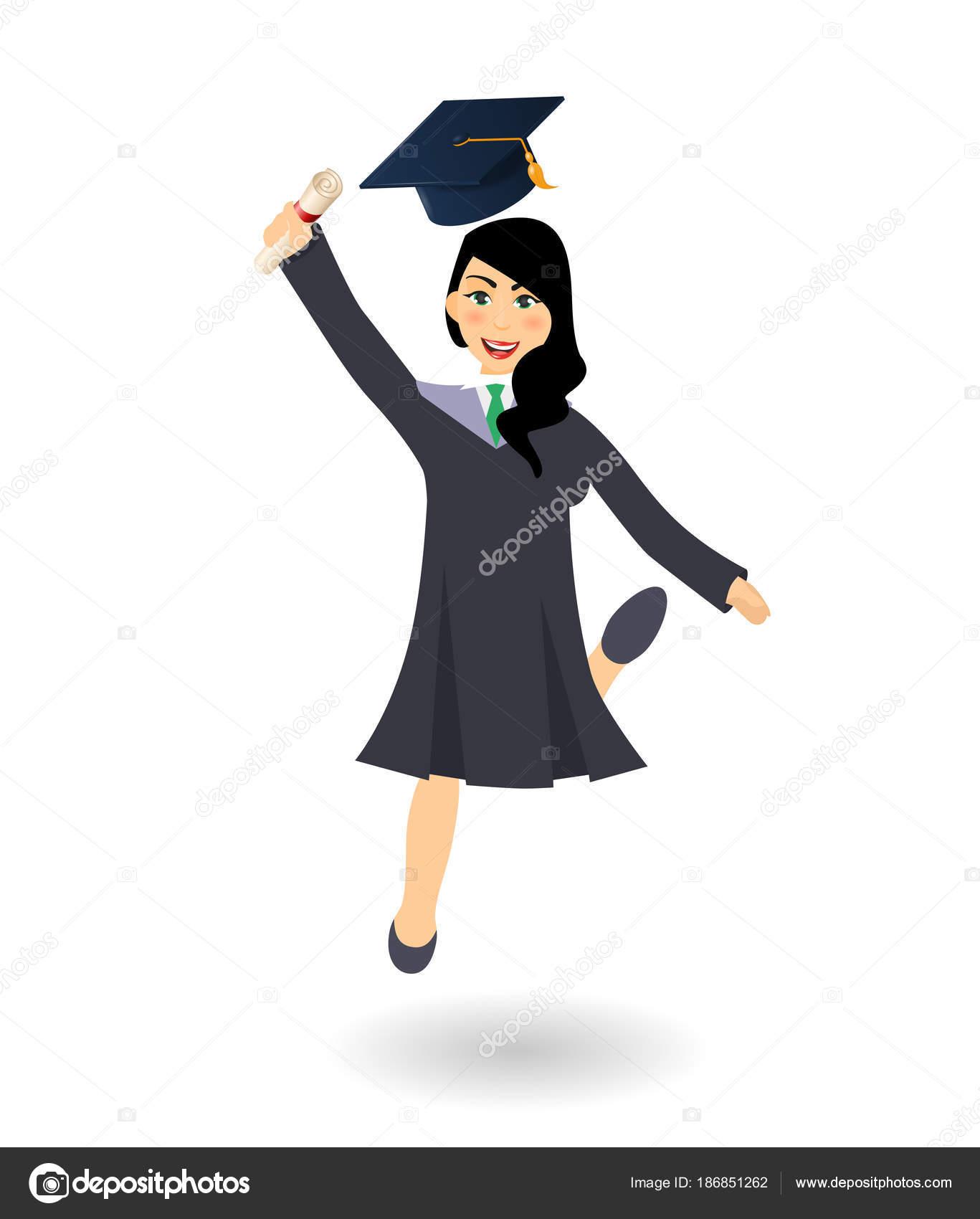 Imágenes Personas Graduadas Animadas Chica De Estudiante