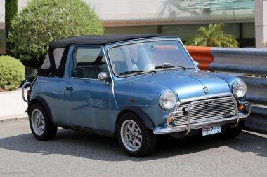 Blue Retro Car Austin Mini Cooper