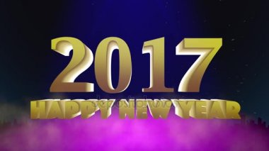 Happy New Year, Gold Text in Particles Ring, 4k — Stock Video ...