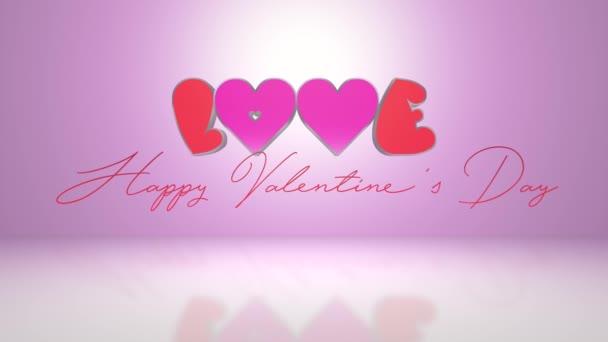 Láska a Happy Valentines den Text - 4k