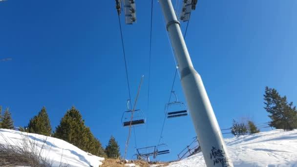 empty chair lift chair ski resort empty chair lift stock video bensib 144459093