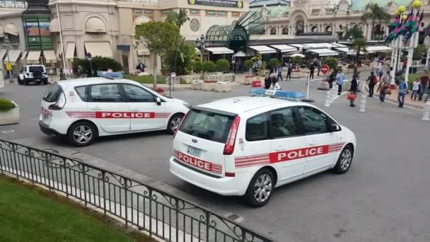 Policejní auto dva Monako Monako Monte-Carlo
