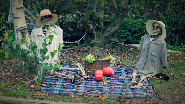 Halloween Skeletons Picnic