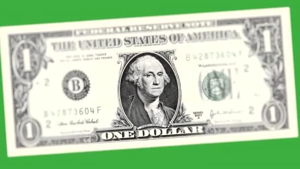 One Dollar Green Background