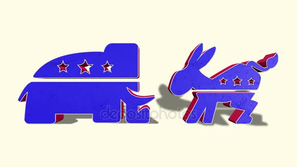 Democrat Donkey And Republican Elephant
