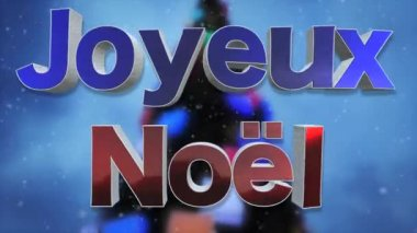 Animated appearance in the form of ripples of merry christmas card merry christmas text looping animation french language joyeux noel beautiful m4hsunfo