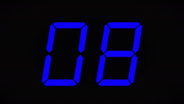 Boldog Új Évet!!! New Years Eve visszaszámlálás 10 másodpercig. Visszaszámlálás időzítő digitális - 4 k Ultra animációs óra