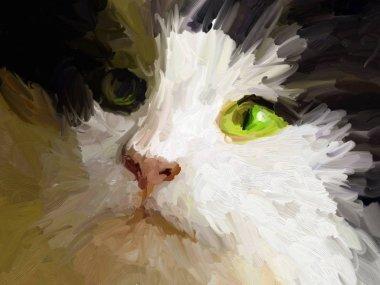 "Картина, постер, плакат, фотообои ""картина кошачья голова - портрет норвежского лесного кота портрет фото"", артикул 349418580"