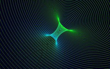 Vector Curvature SpaceTime, Wormhole Concept Background - Catenoid, Black Hole Funnel, Gyperbolic Geometry, Negative Curvature etc