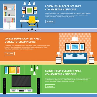 Home Interior Design for Living Room, Bedroom and Home Office Fu