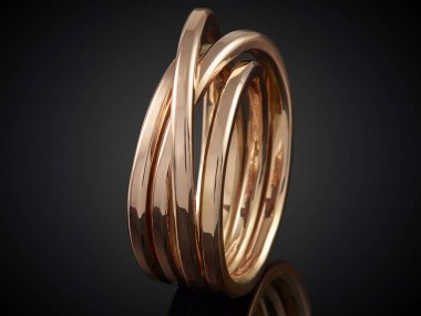 beautiful Golden ring isolated on black background