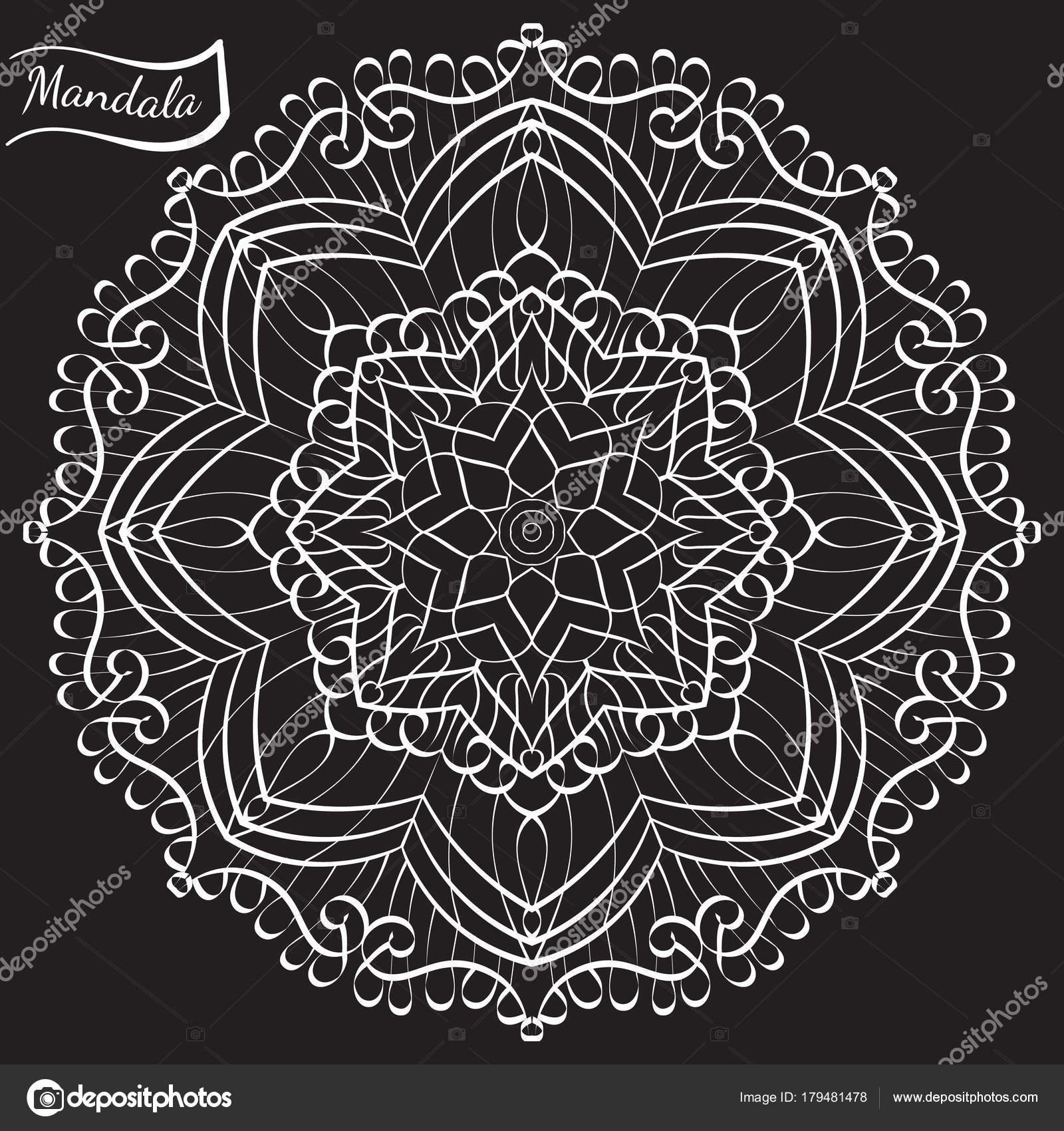 Mandala De Vecteur Pour Livre De Coloriage Adulte Anti Stress