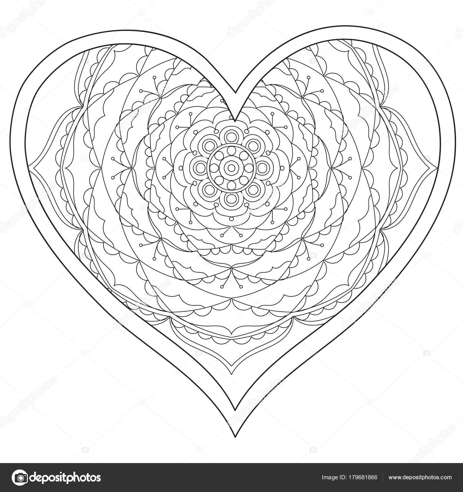 Kleurplaten Voor Volwassenen Liefde.De Ronde Mandala Liefde Voor Volwassenen Dejachthoorn