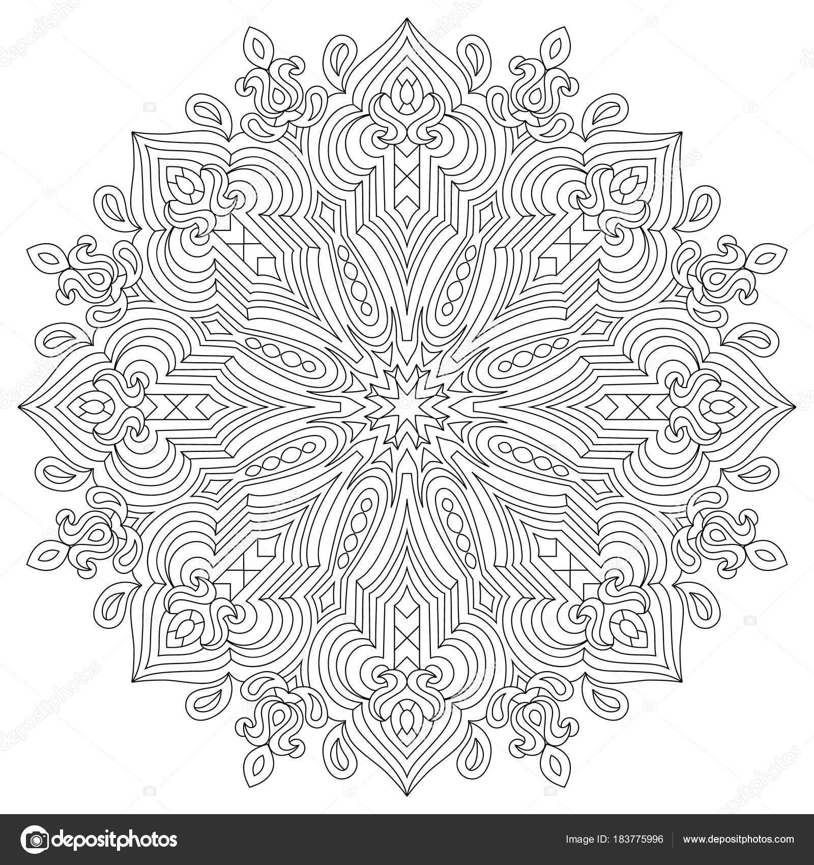 Mandala Circulaire De Fleur Pour Les Adultes Conception De Pages De
