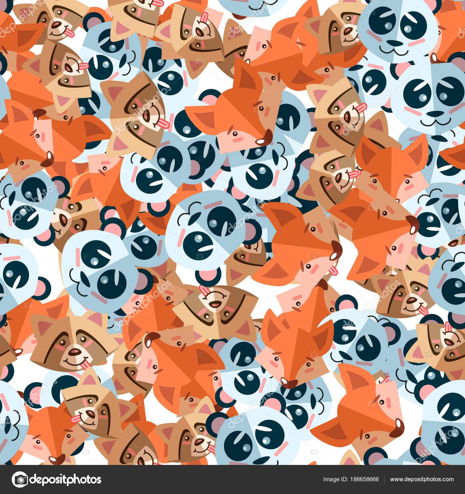 Tierische Muster nahtlose Hintergrund Vektorgrafik. Niedlichen ...